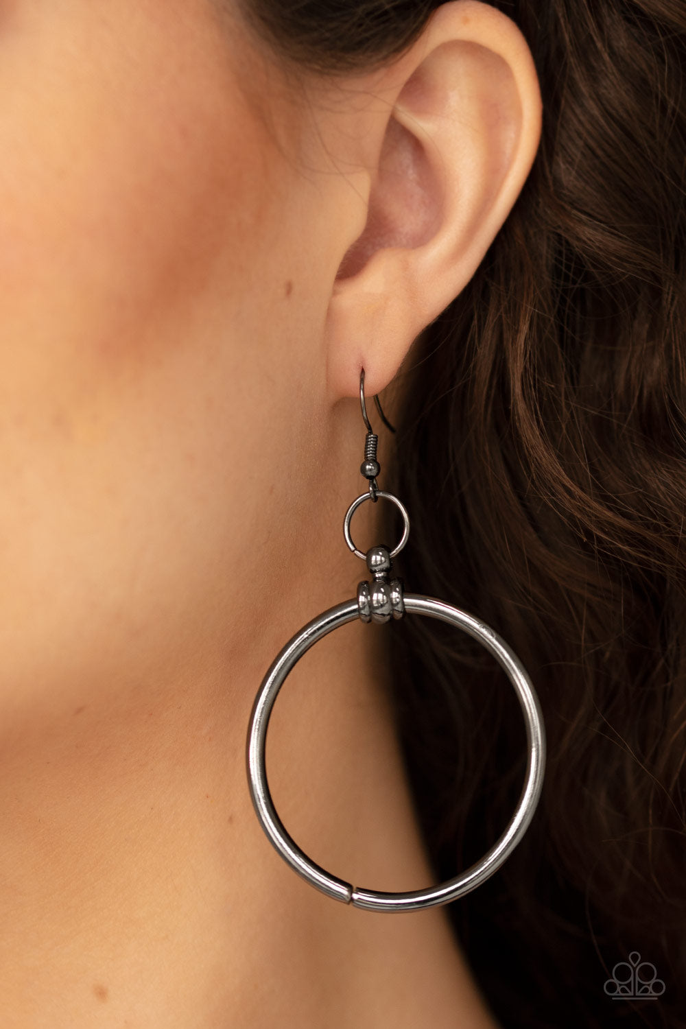 Total Focus - Black Earrings - Paparazzi Accessories