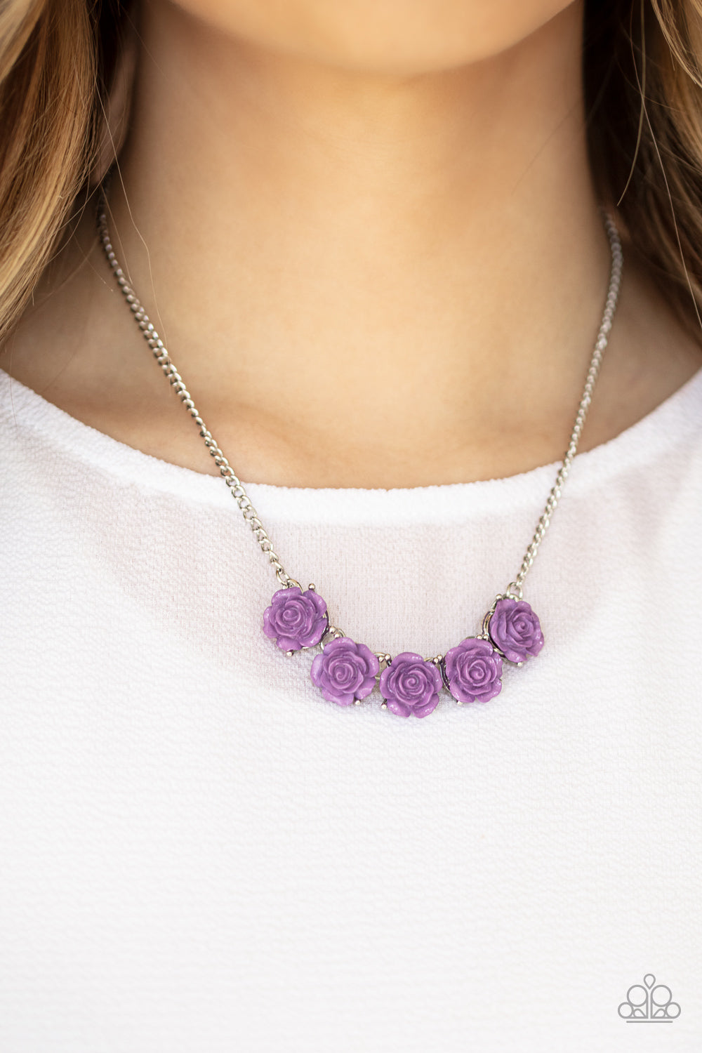 Garden Party Posh - Purple Necklace - Paparazzi Accessories