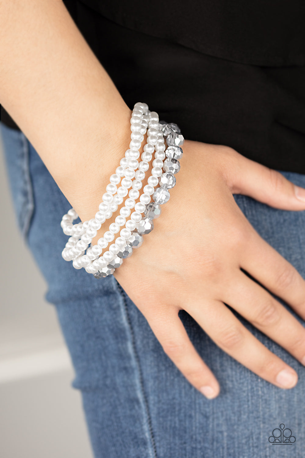 Refined Renegade - White Bracelet - Paparazzi Accessories