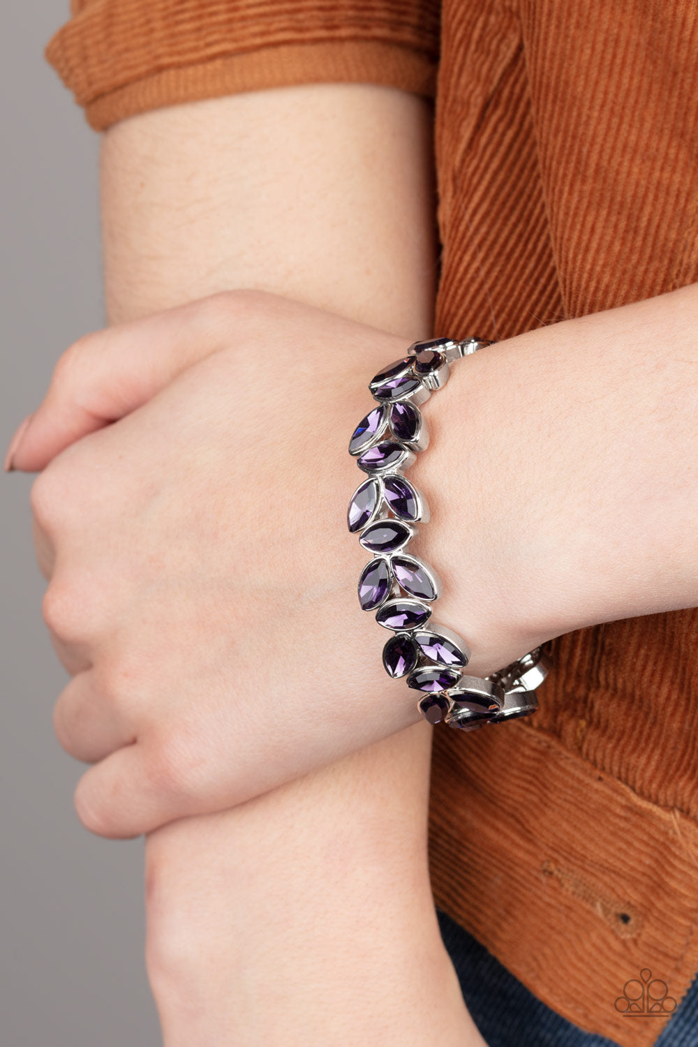 Gilded Gardens - Purple Bracelet - Paparazzi Accessories