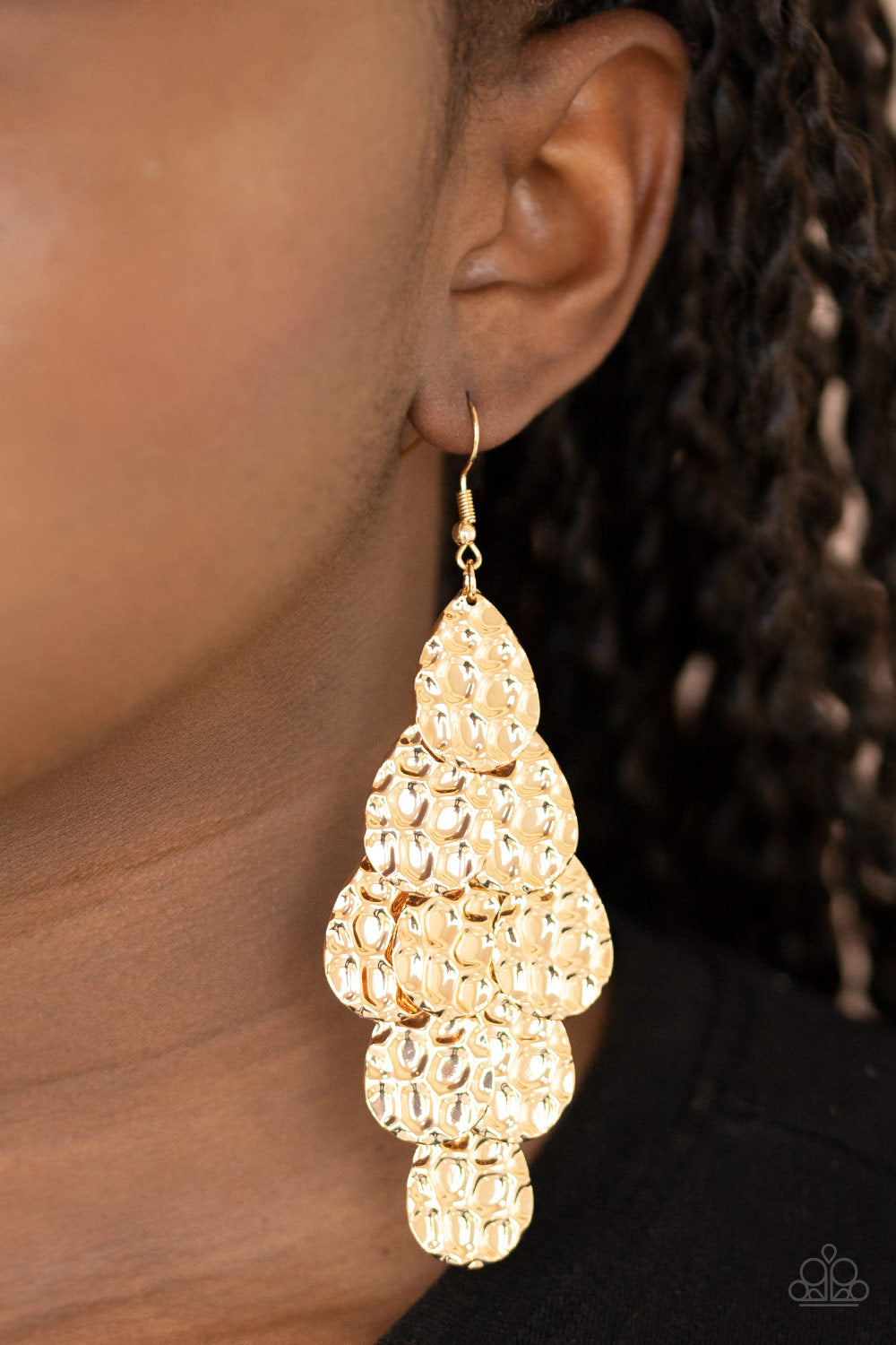 Instant Incandescence - Gold Earrings - Paparazzi Accessories