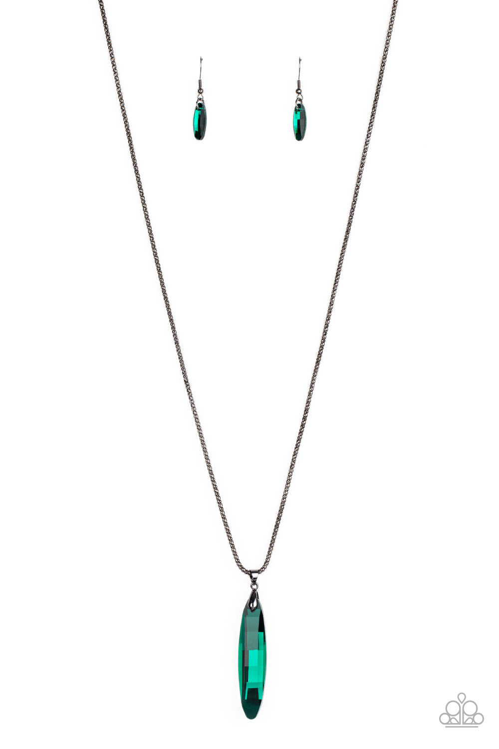five-dollar-jewelry-meteor-shower-green-necklace-paparazzi-accessories