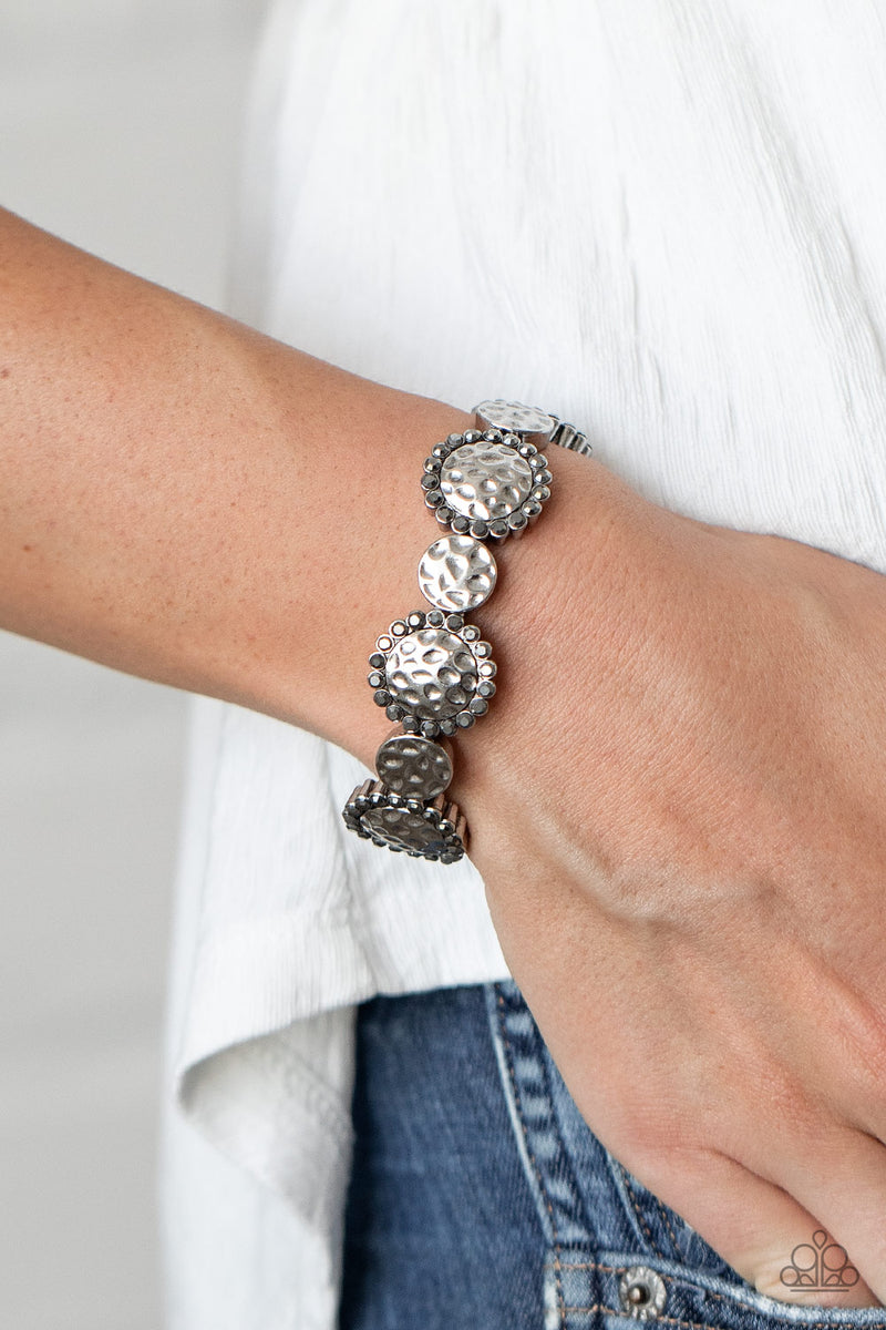 Mixed Up Metro - Silver Bracelet - Paparazzi Accessories