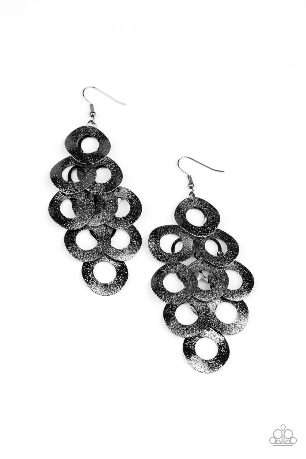 five-dollar-jewelry-scattered-shimmer-black-earrings-paparazzi-accessories