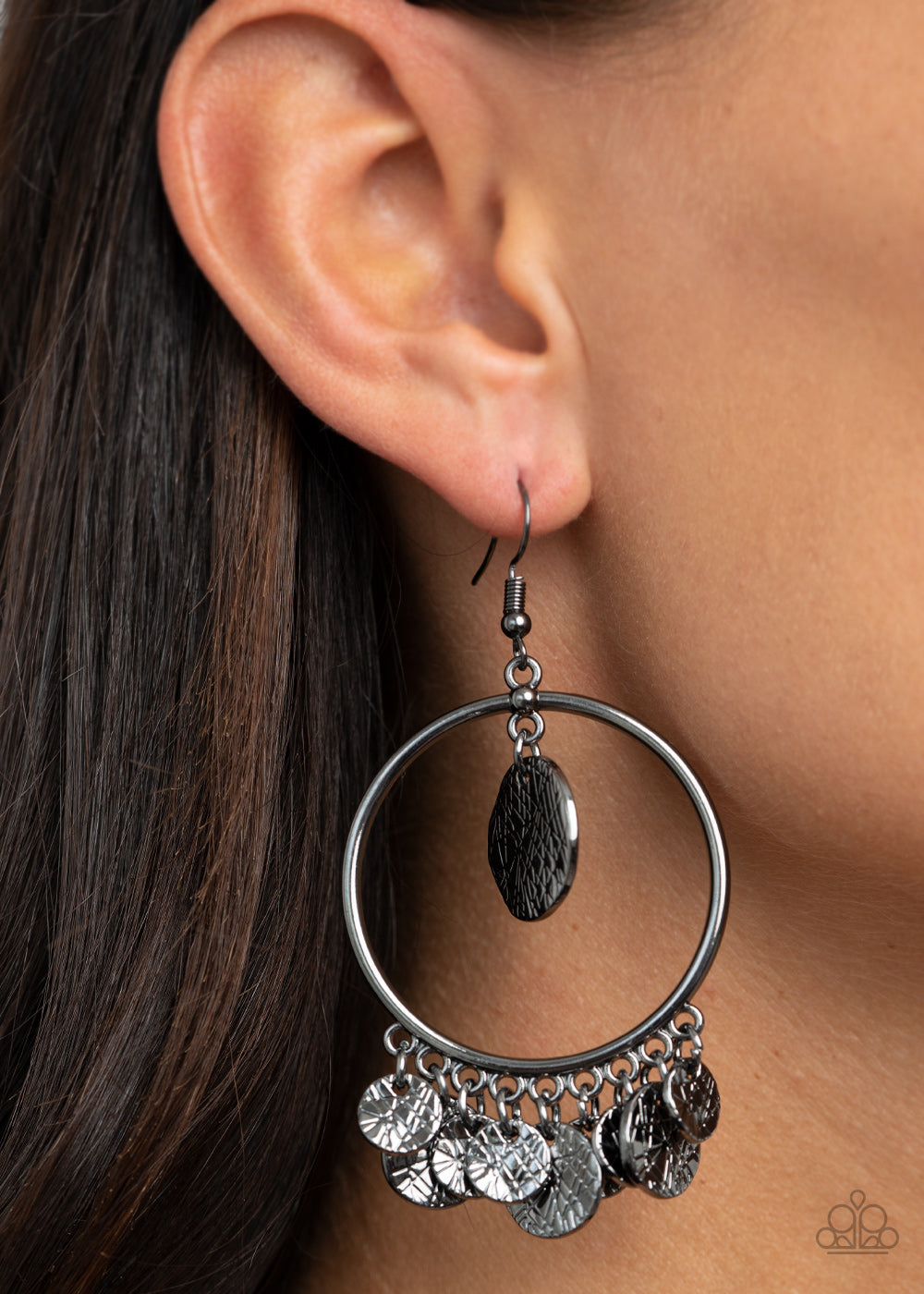 Start From Scratch - Black Earrings - Paparazzi Accessories