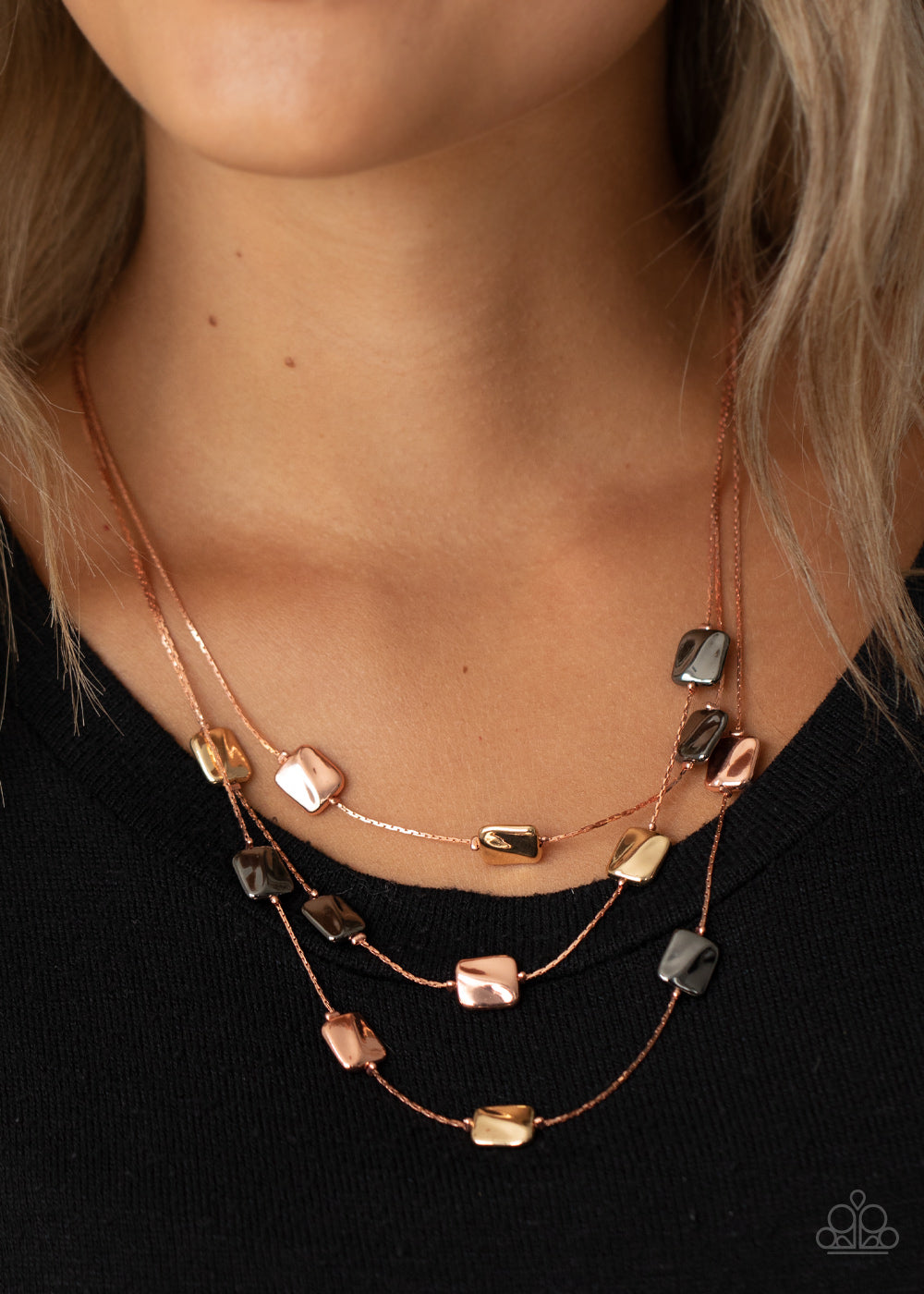 Downtown Reflections - Copper Necklace - Paparazzi Accessories