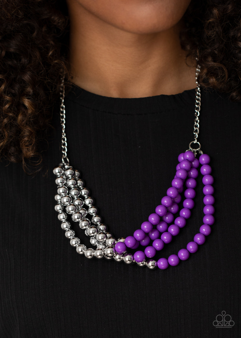 Layer After Layer - Purple Necklace - Paparazzi Accessories