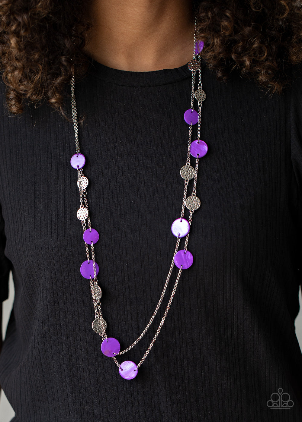 Ocean Soul - Purple Necklace - Paparazzi Accessories