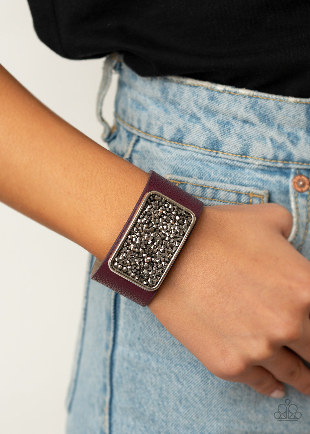 Interstellar Shimmer - Purple Bracelet - Paparazzi Accessories