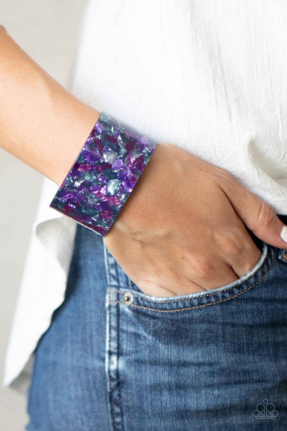Freestyle Fashion - Purple Bracelet - Paparazzi Accessories