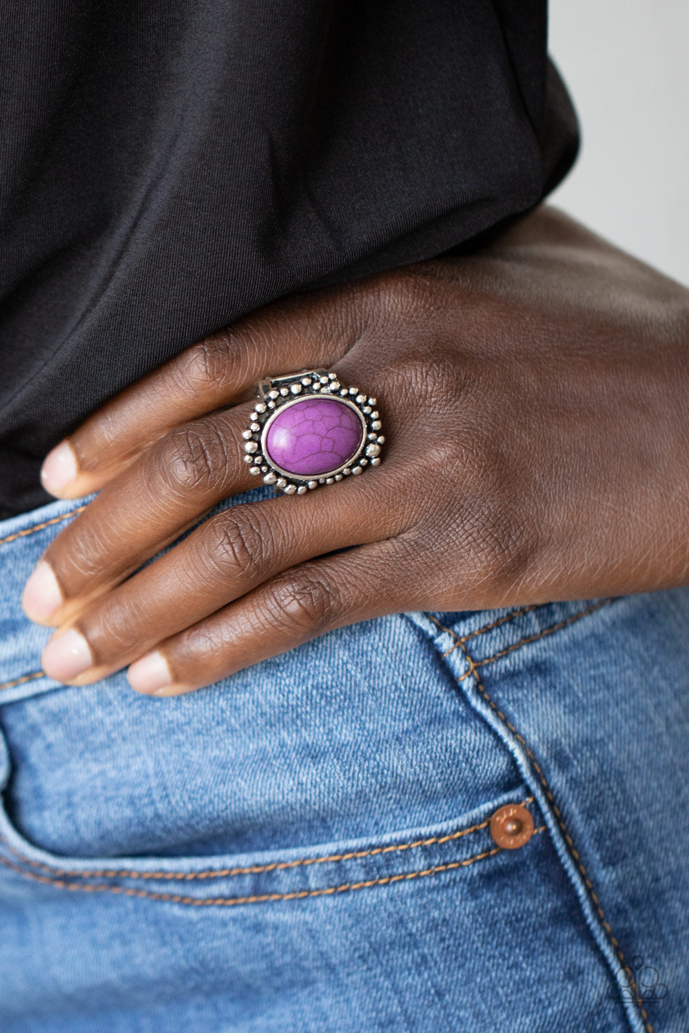 Desert Mine - Purple Ring - Paparazzi Accessories