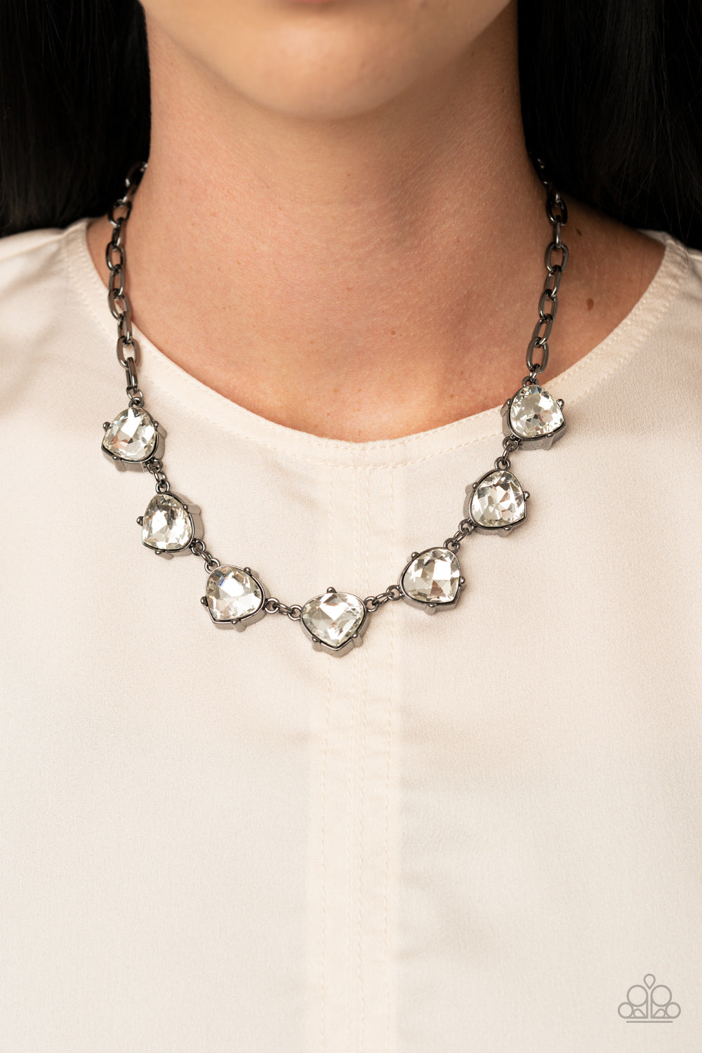 Star Quality Sparkle - Black Necklace - Paparazzi Accessories