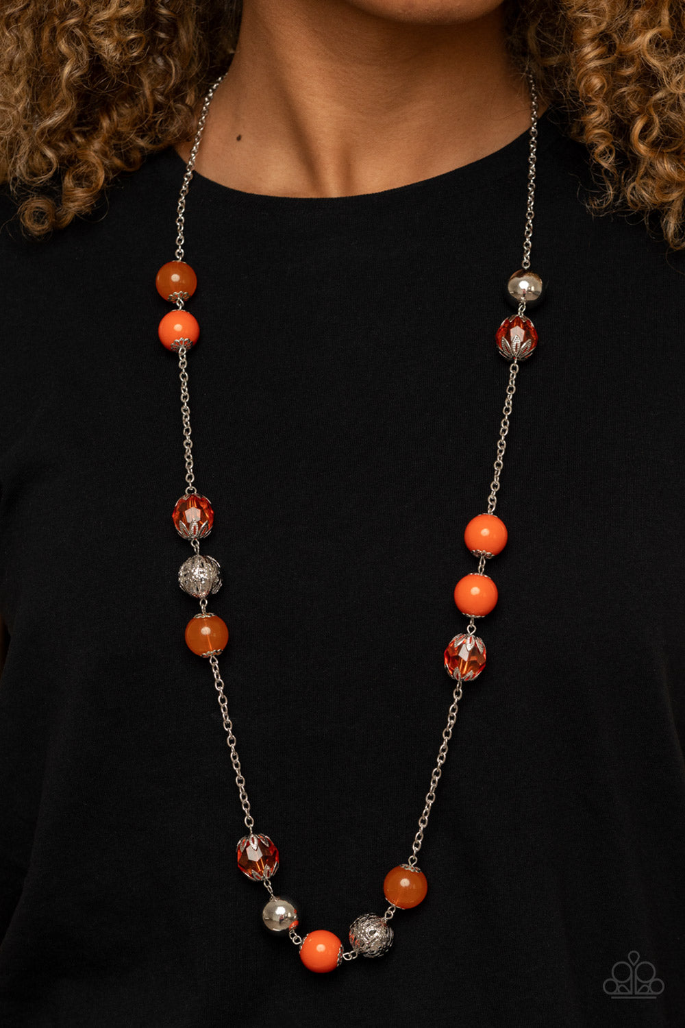 Fruity Fashion - Orange Necklace - Paparazzi Accessories