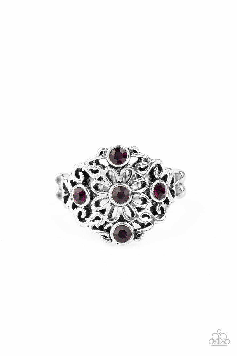 five-dollar-jewelry-one-daisy-at-a-time-purple-ring-paparazzi-accessories
