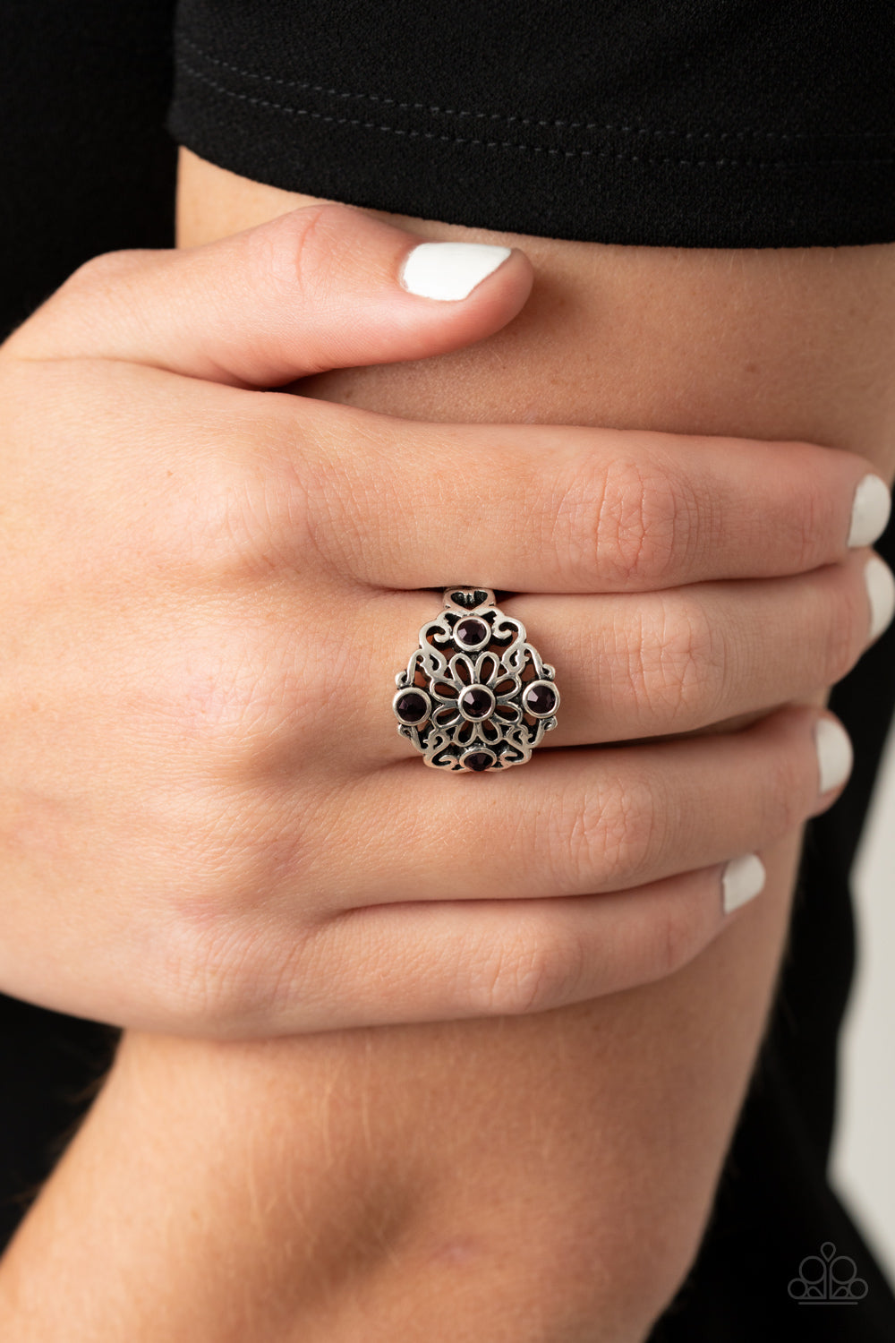 One DAISY At A Time - Purple Ring - Paparazzi Accessories