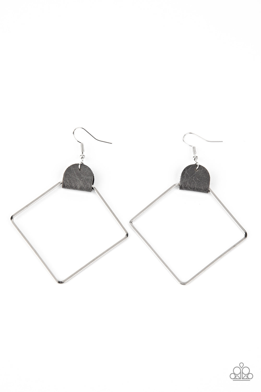 five-dollar-jewelry-friends-of-a-leather-silver-earrings-paparazzi-accessories