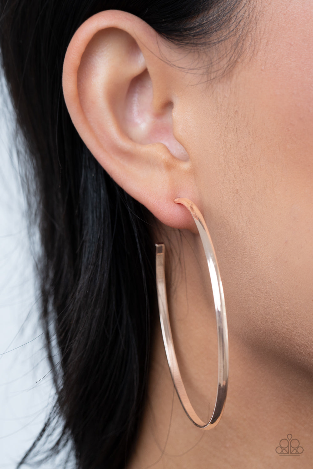 Basic Bombshell - Rose Gold Earrings - Paparazzi Accessories