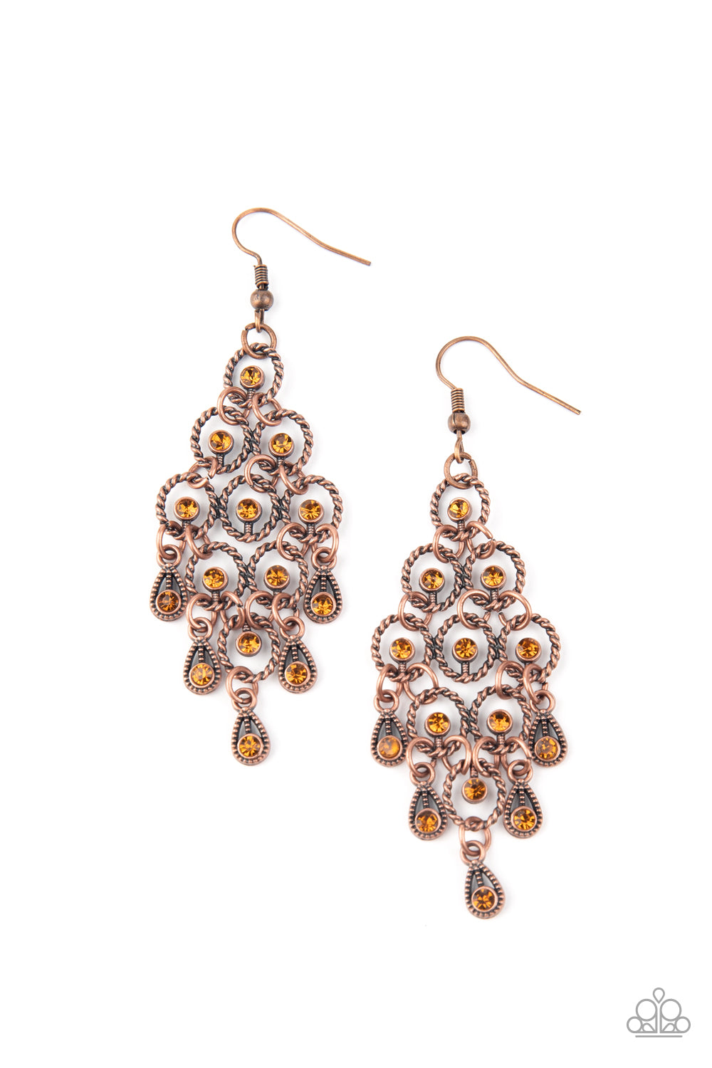 five-dollar-jewelry-chandelier-cameo-copper-earrings-paparazzi-accessories