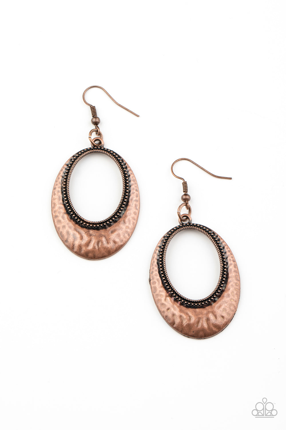 five-dollar-jewelry-tempest-texture-copper-earrings-paparazzi-accessories