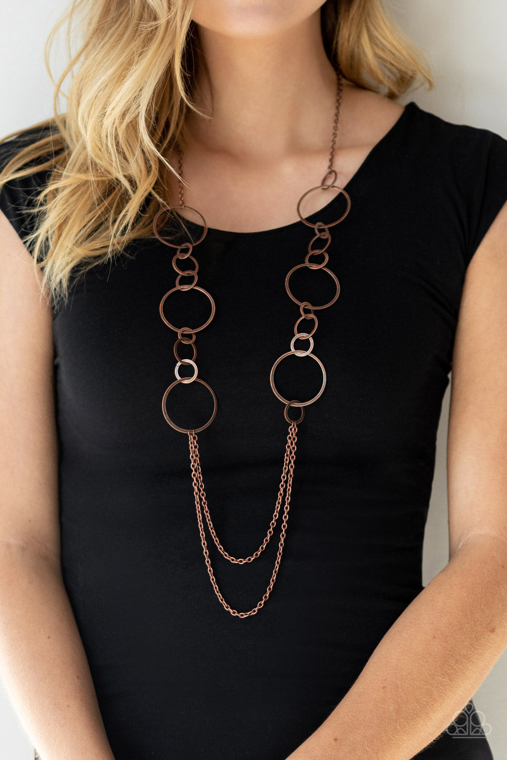 Basic Babe - Copper Necklace - Paparazzi Accessories
