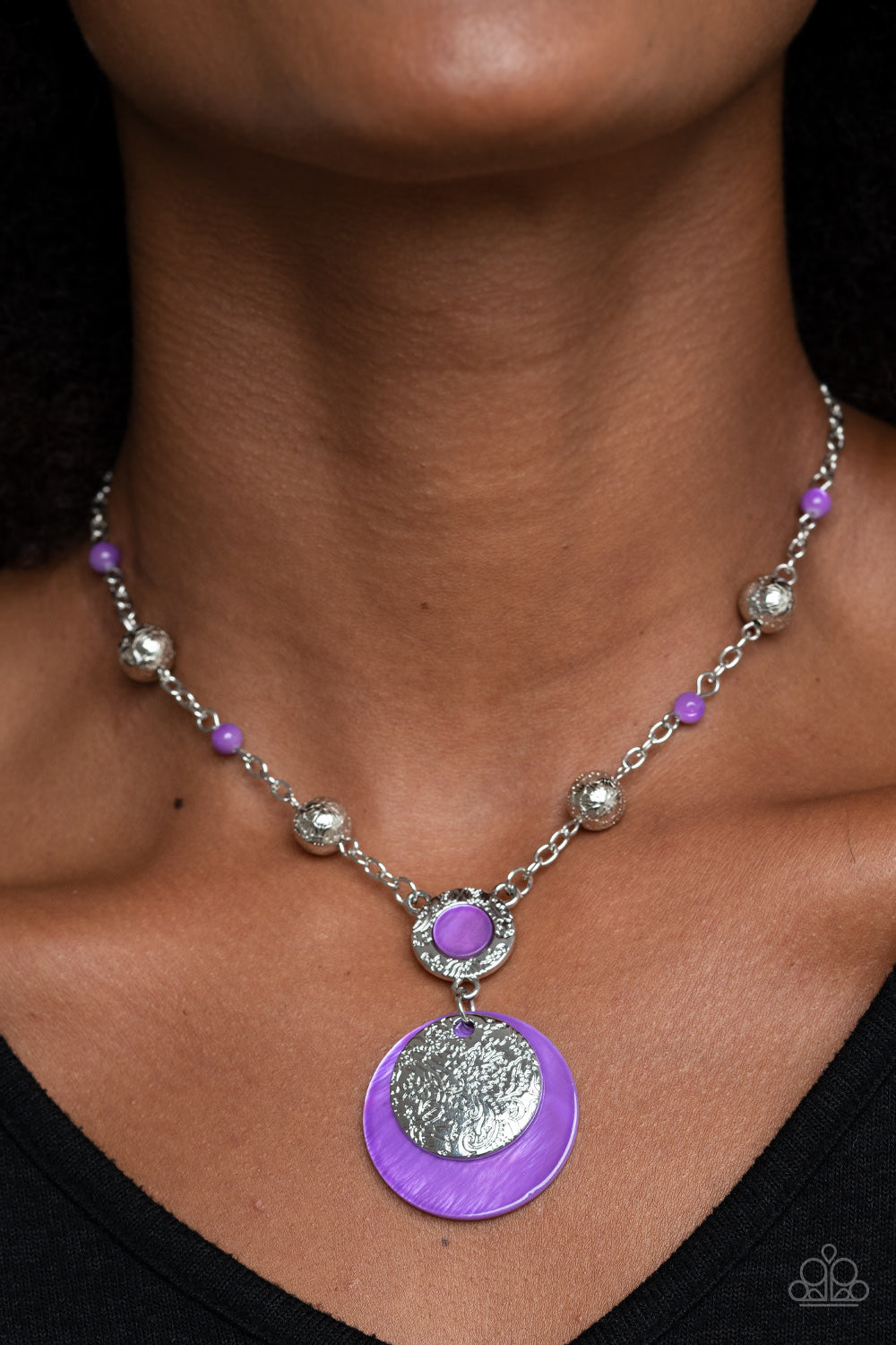 SEA The Sights - Purple Necklace - Paparazzi Accessories