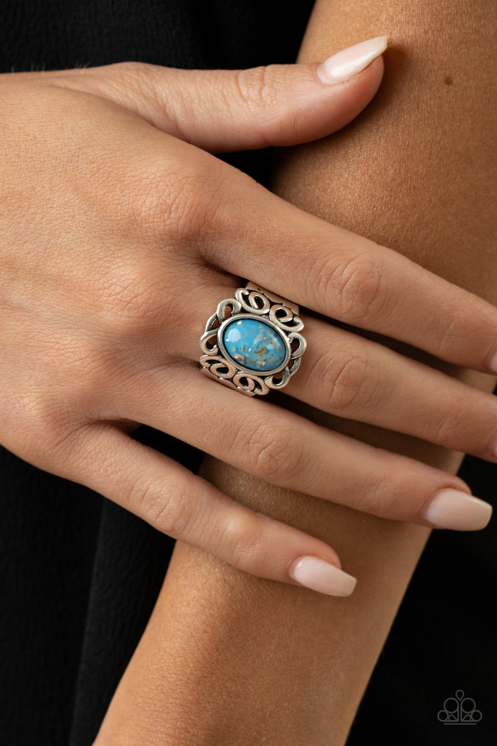 Straight To The POP! - Blue Ring - Paparazzi Accessories