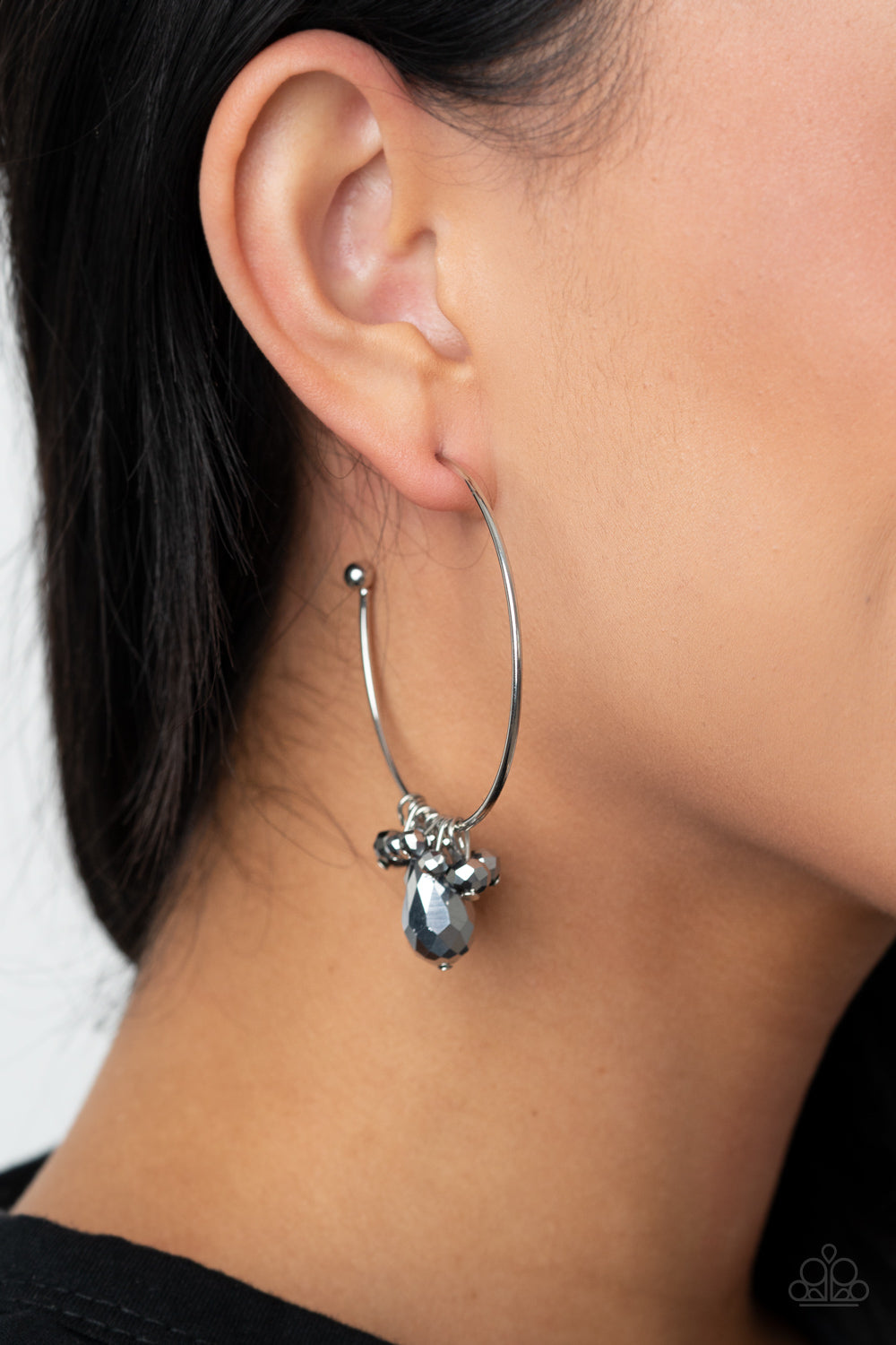 Dazzling Downpour - Silver Earrings - Paparazzi Accessories
