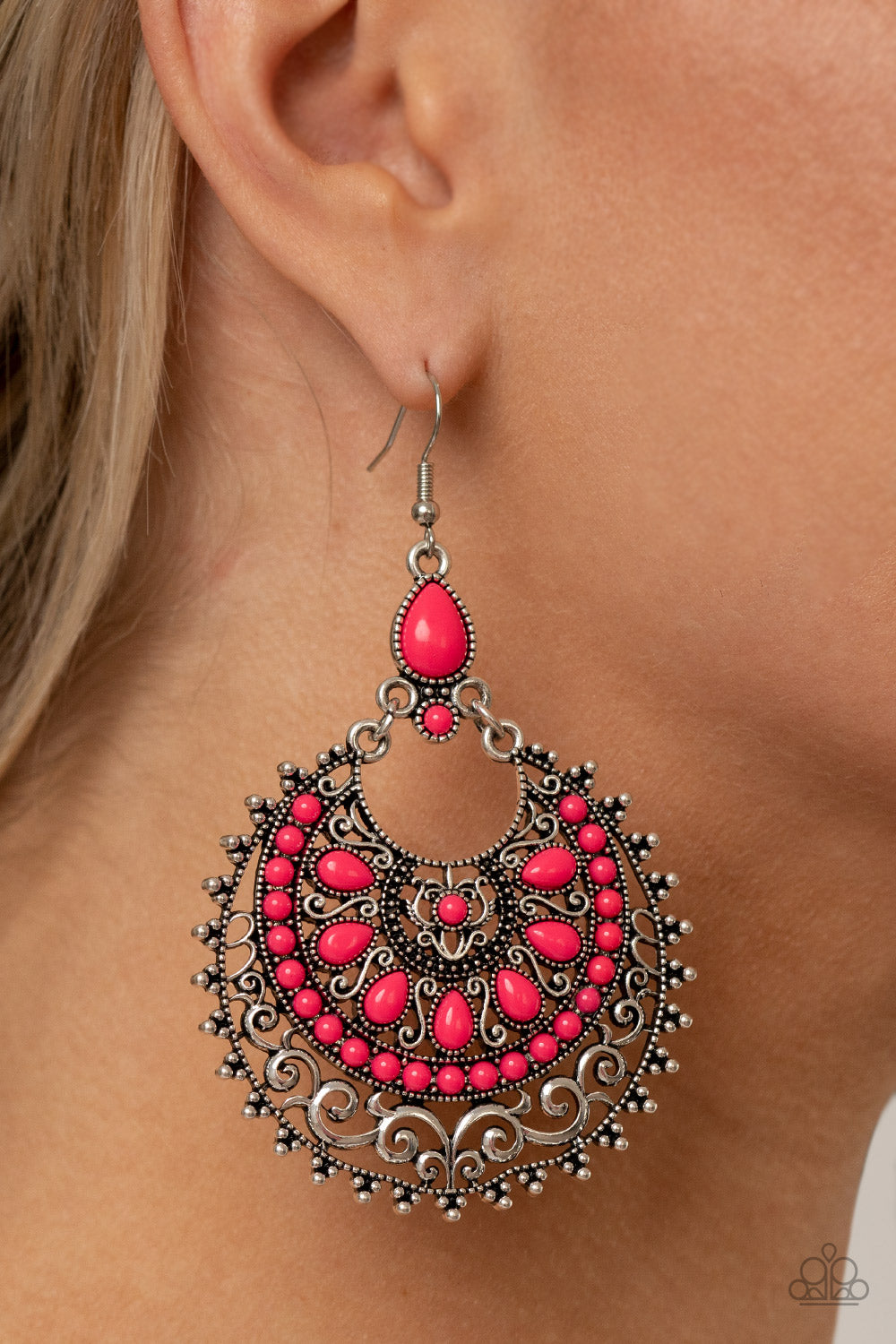 Laguna Leisure - Pink Earrings - Paparazzi Accessories