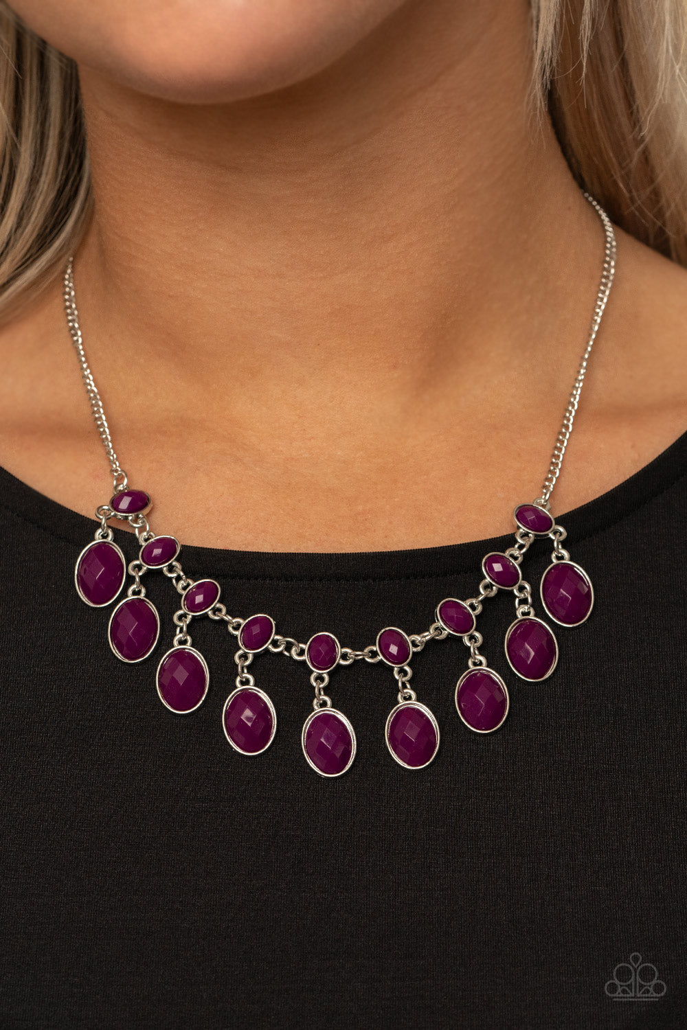 Lady of the POWERHOUSE - Purple Necklace - Paparazzi Accessories