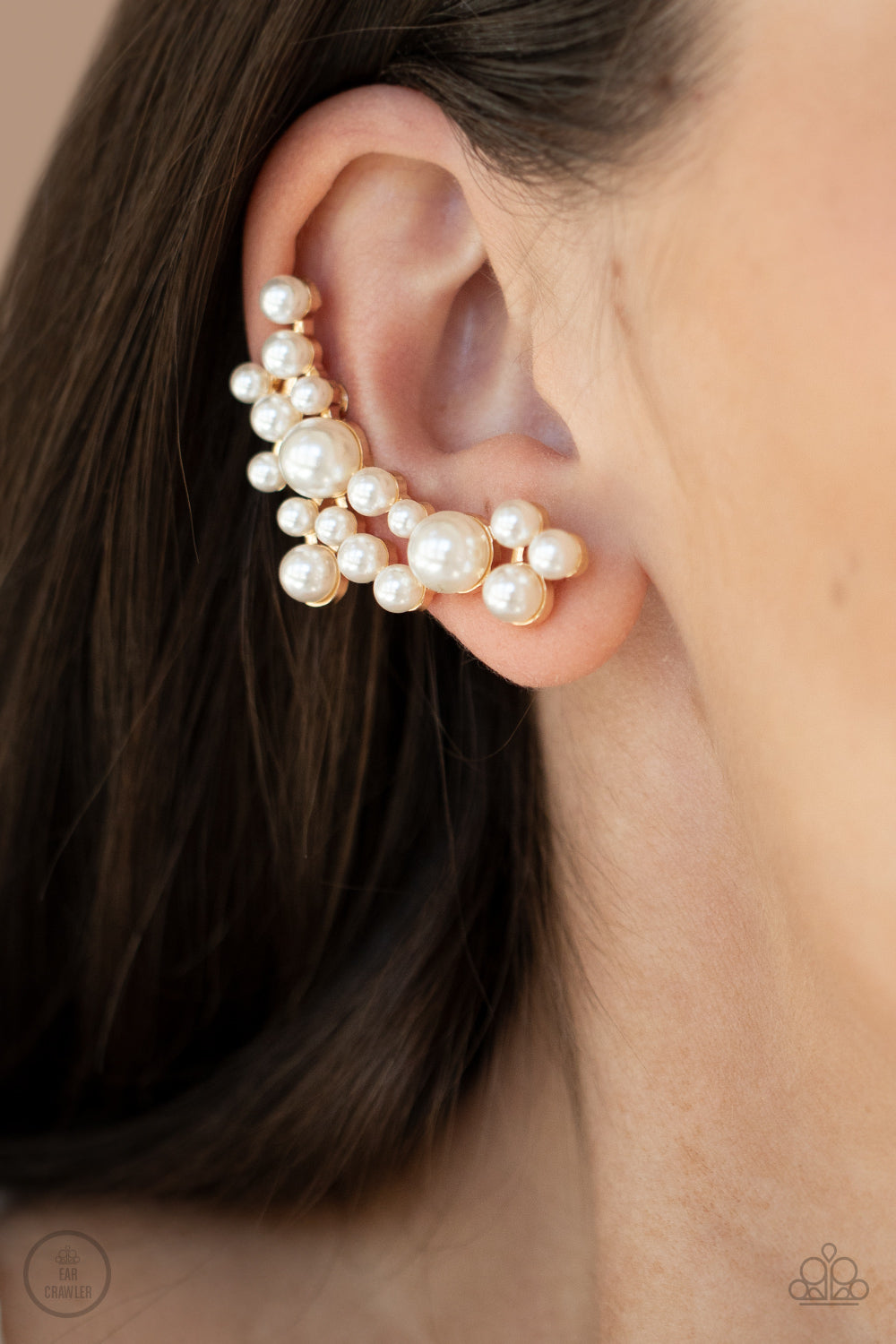 Metro Makeover - Gold Post Earrings - Paparazzi Accessories