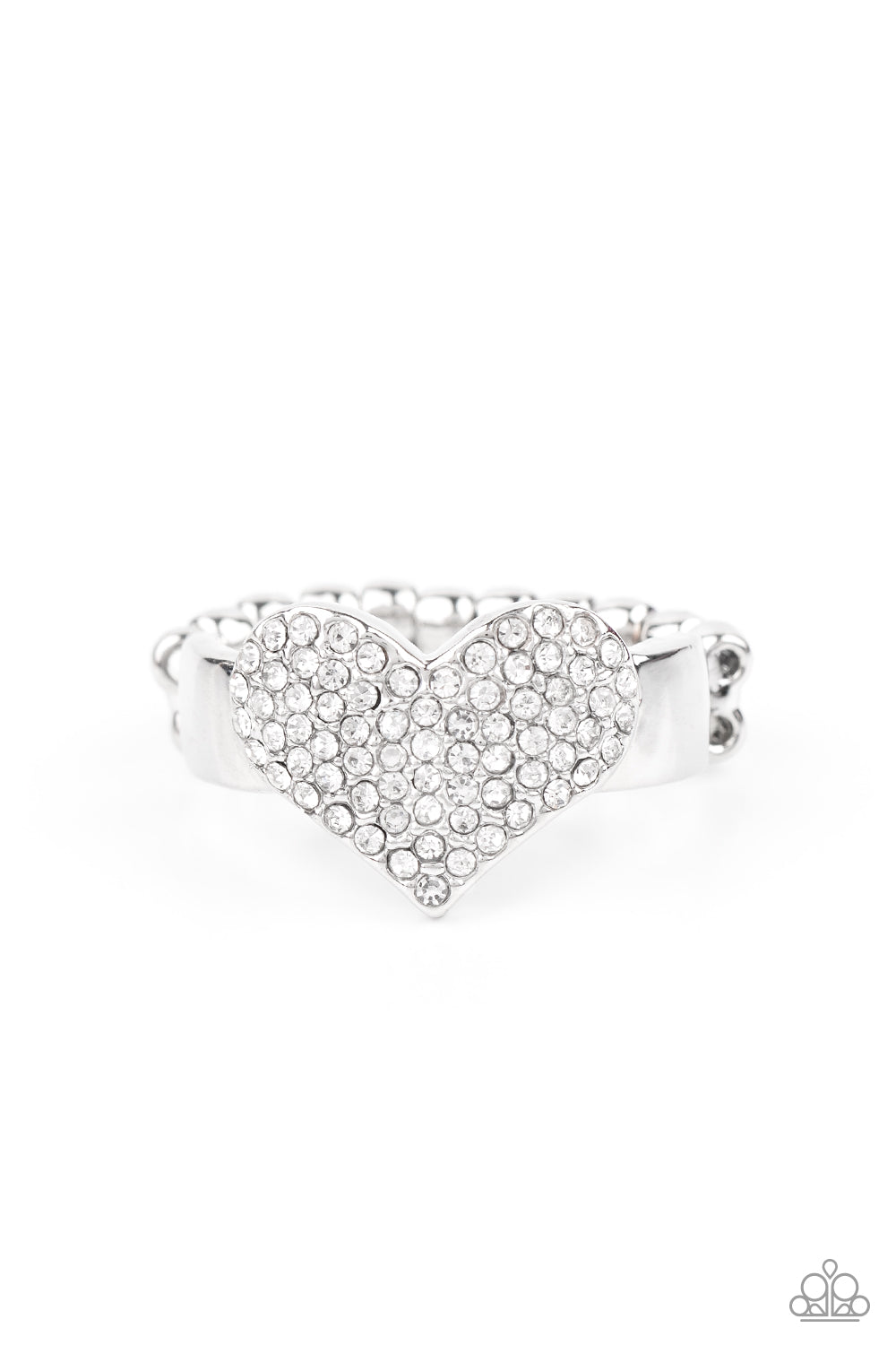 five-dollar-jewelry-heart-of-bling-white-ring-paparazzi-accessories