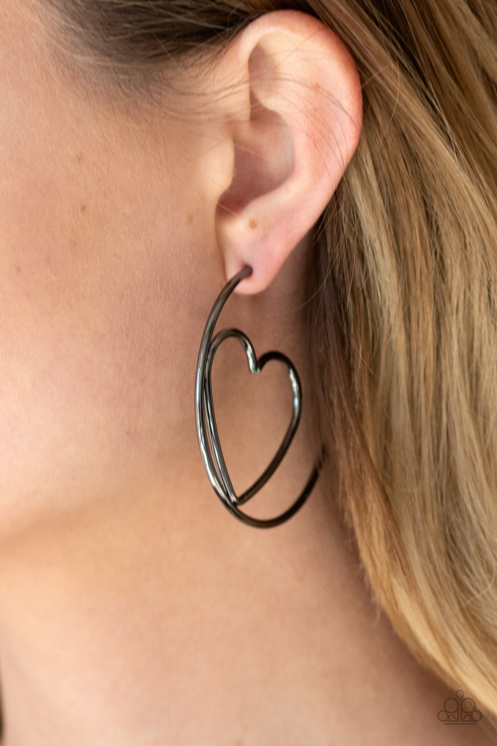 Love At First BRIGHT - Black Earrings - Paparazzi Accessories