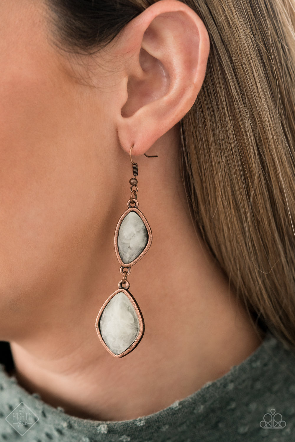 The Oracle Has Spoken - Copper Earrings - Paparazzi Accessories