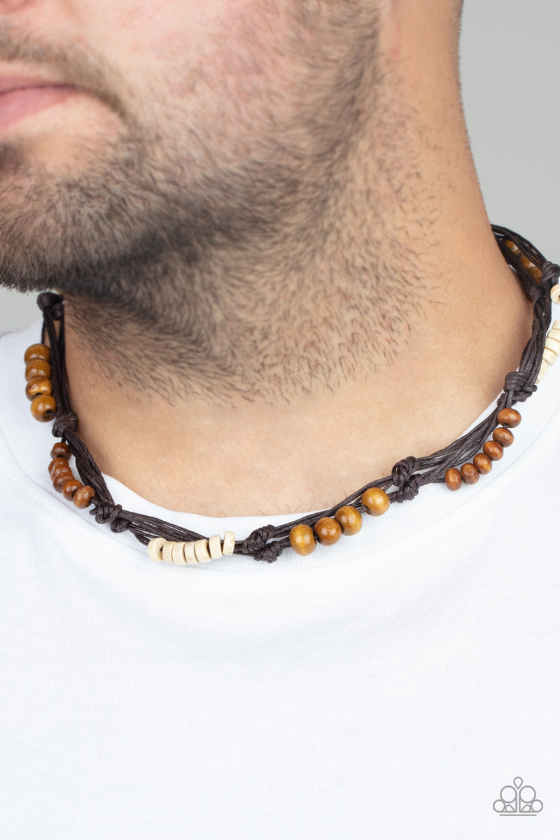 Tiki Tour - Brown Necklace - Paparazzi Accessories