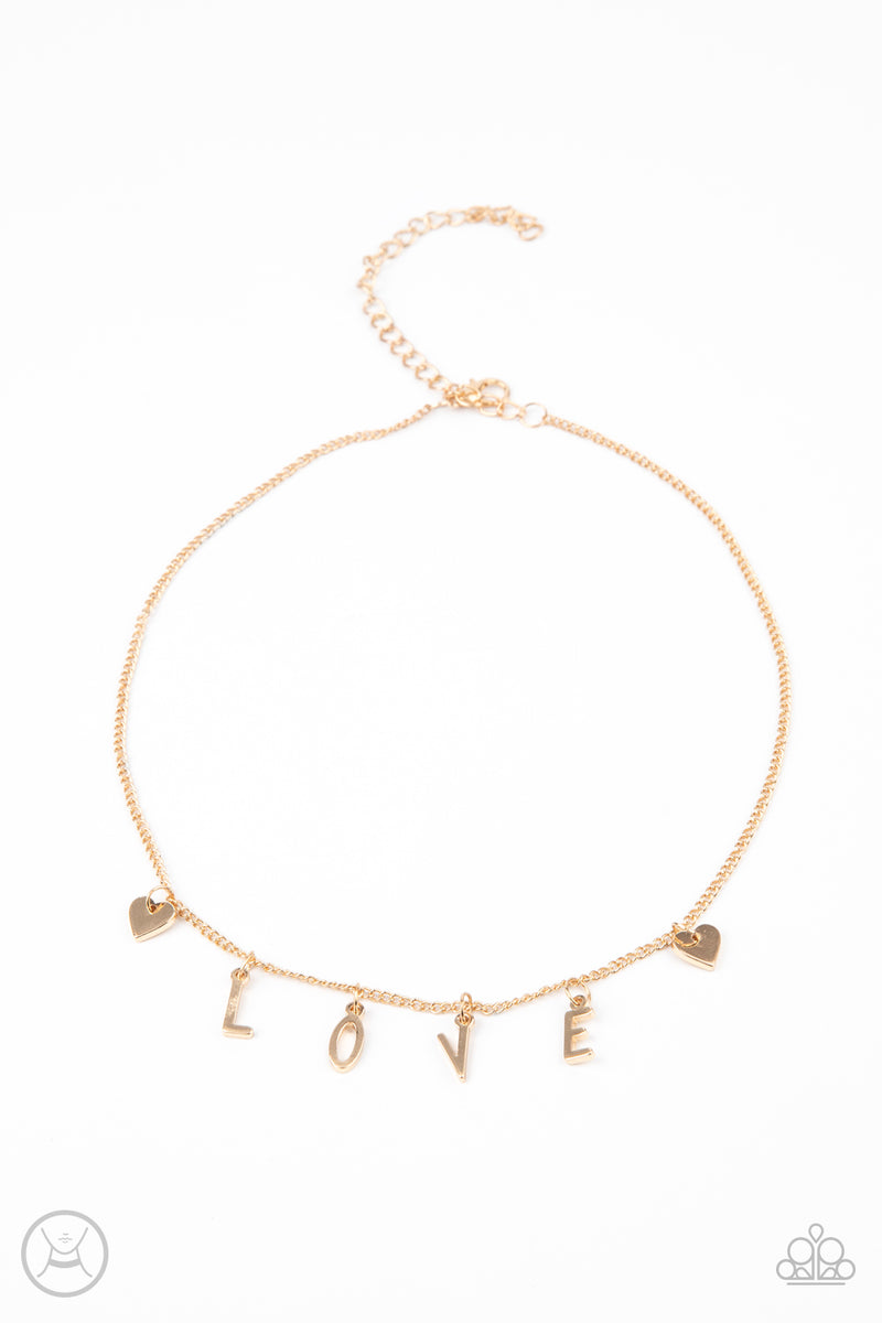 five-dollar-jewelry-love-conquers-all-gold-necklace-paparazzi-accessories