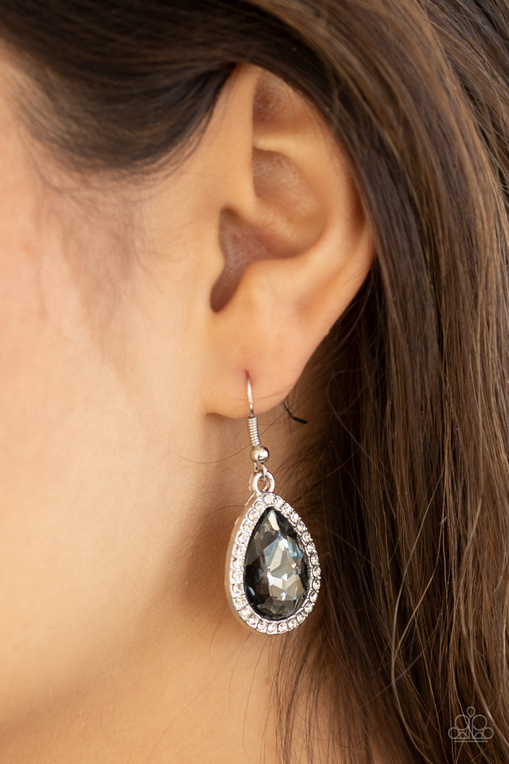 Dripping With Drama - Silver Earrings - Paparazzi Accessories