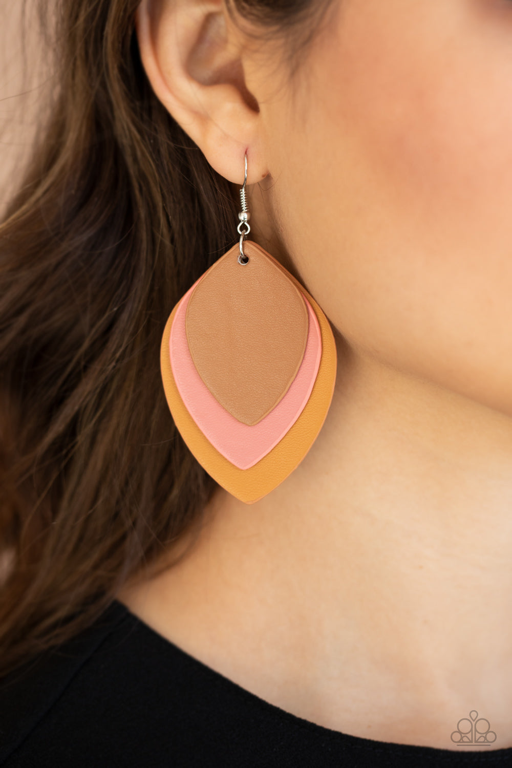 Light as a LEATHER - Multi Earrings - Paparazzi Accessories