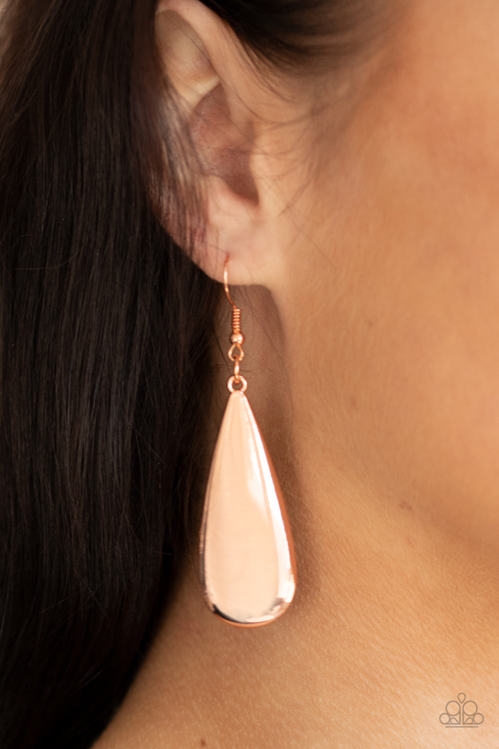 The Drop Off - Copper Earrings - Paparazzi Accessories