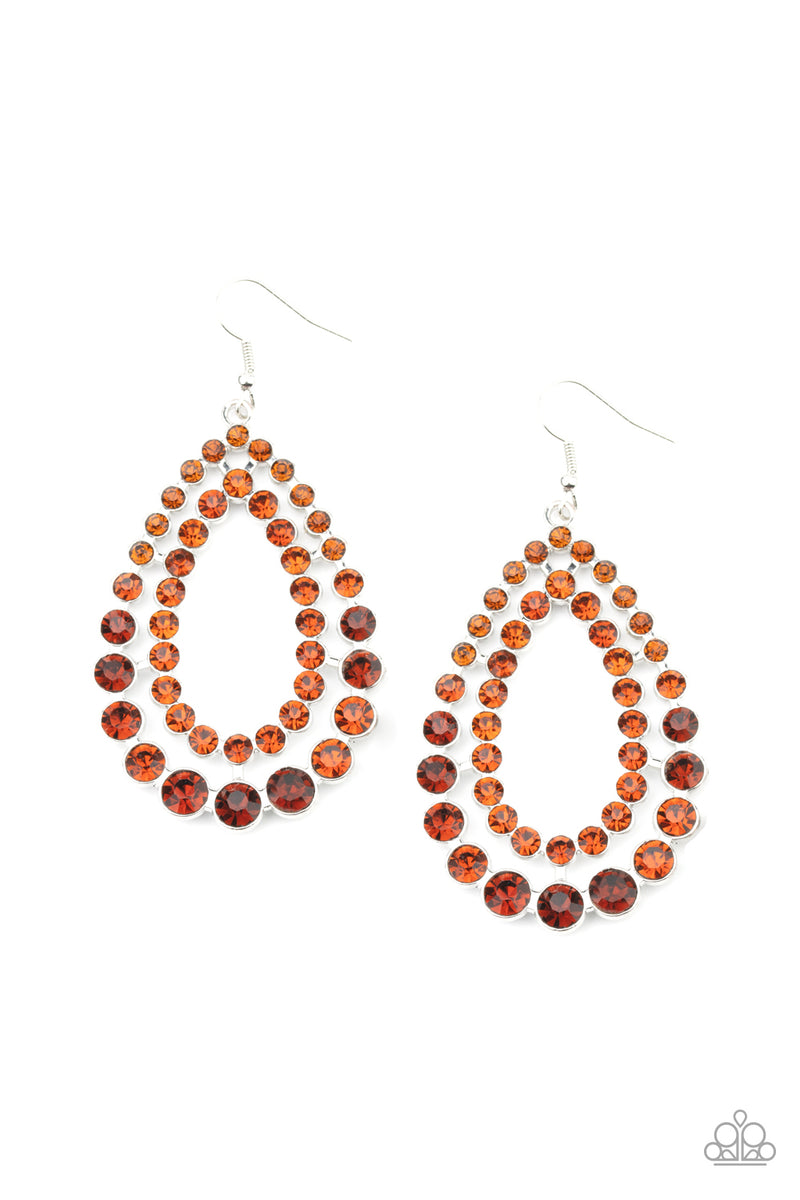 five-dollar-jewelry-glacial-glaze-brown-earrings-paparazzi-accessories