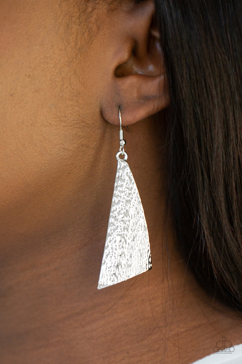 Ready The Troops - Silver Earrings - Paparazzi Accessories