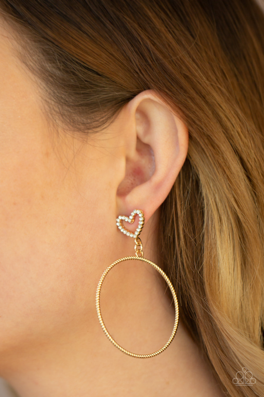 Love Your Curves - Gold Post Earrings - Paparazzi Accessories
