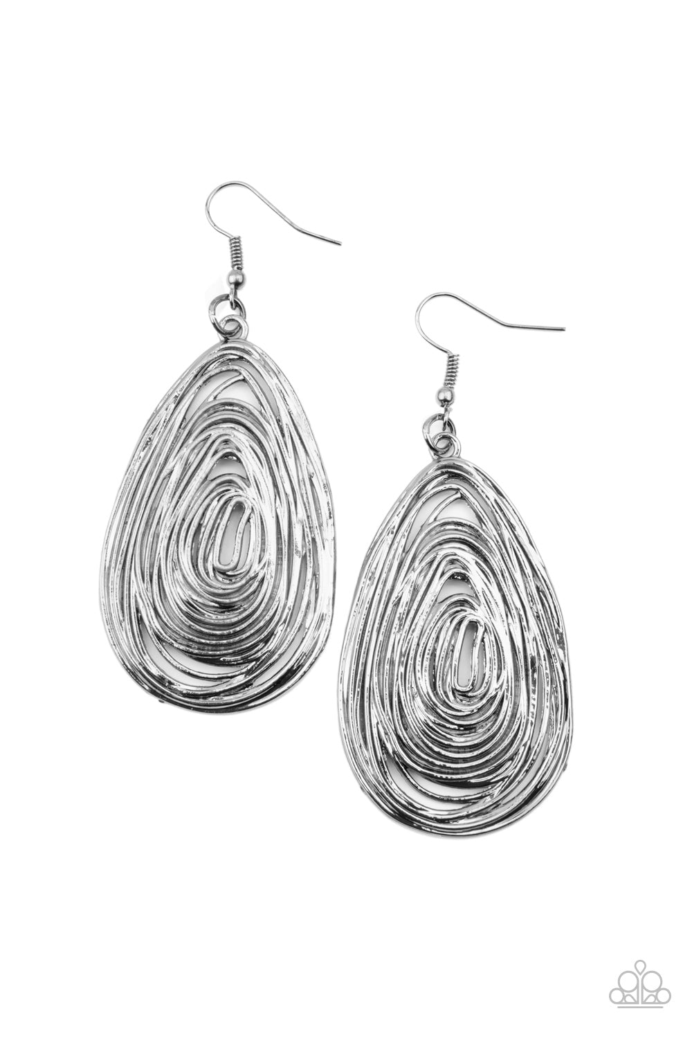 five-dollar-jewelry-rural-ripples-black-earrings-paparazzi-accessories