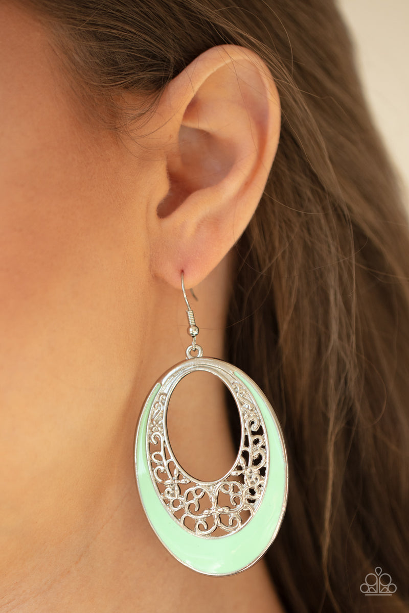 Orchard Bliss - Green Earrings - Paparazzi Accessories