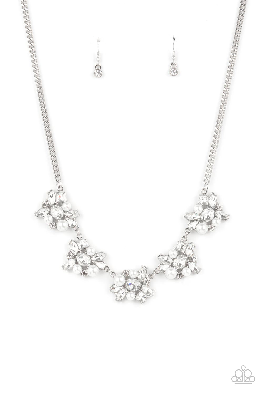 five-dollar-jewelry-heiress-of-them-all-white-necklace-paparazzi-accessories