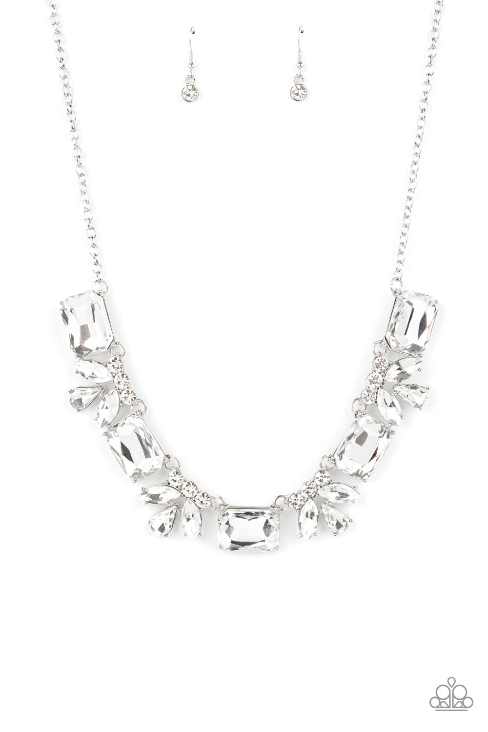 five-dollar-jewelry-long-live-sparkle-white-necklace-paparazzi-accessories