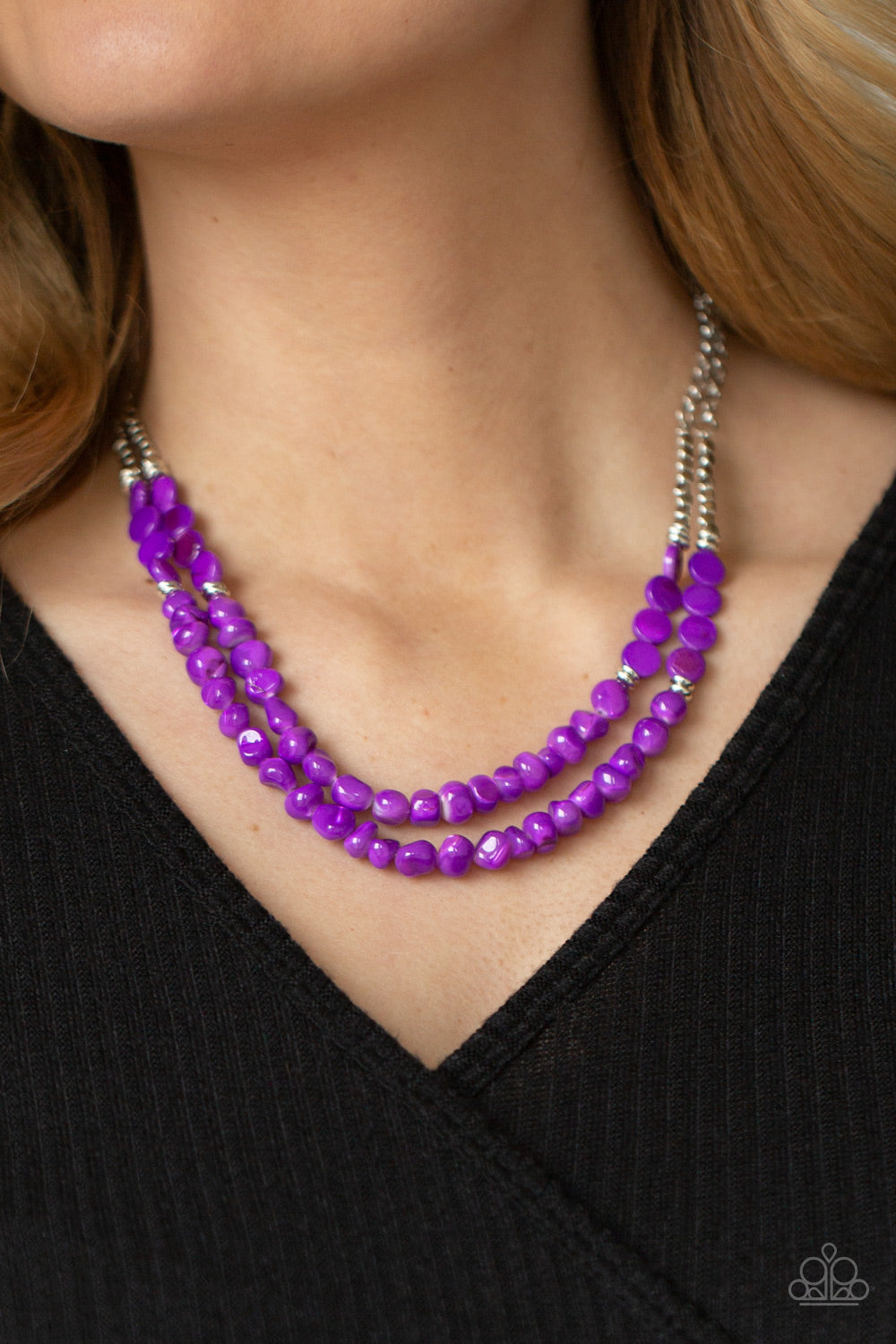Staycation Status - Purple Necklace - Paparazzi Accessories