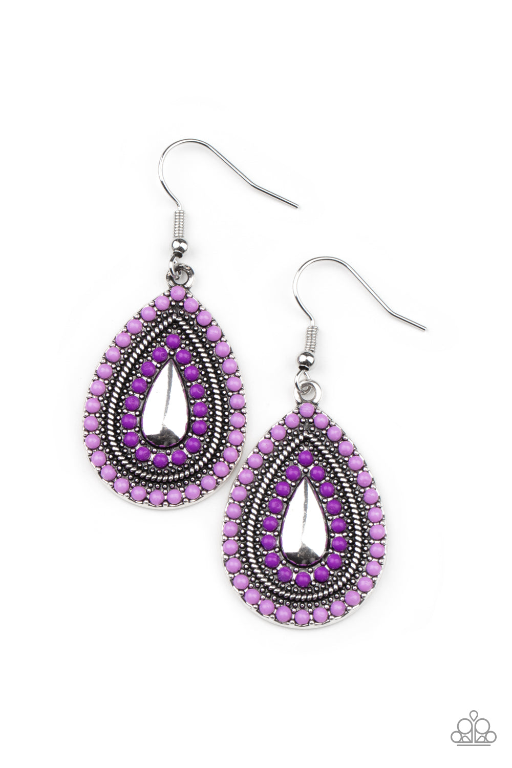 five-dollar-jewelry-beaded-bonanza-purple-earrings-paparazzi-accessories