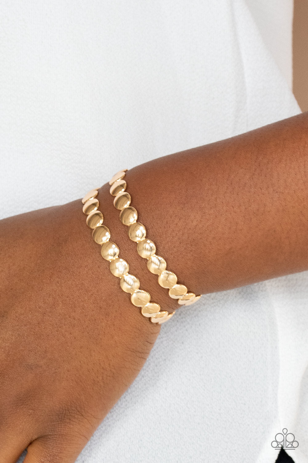 On The Spot Shimmer - Gold Bracelet - Paparazzi Accessories