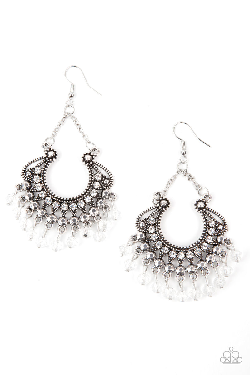 five-dollar-jewelry-glow-down-in-flames-white-earrings-paparazzi-accessories