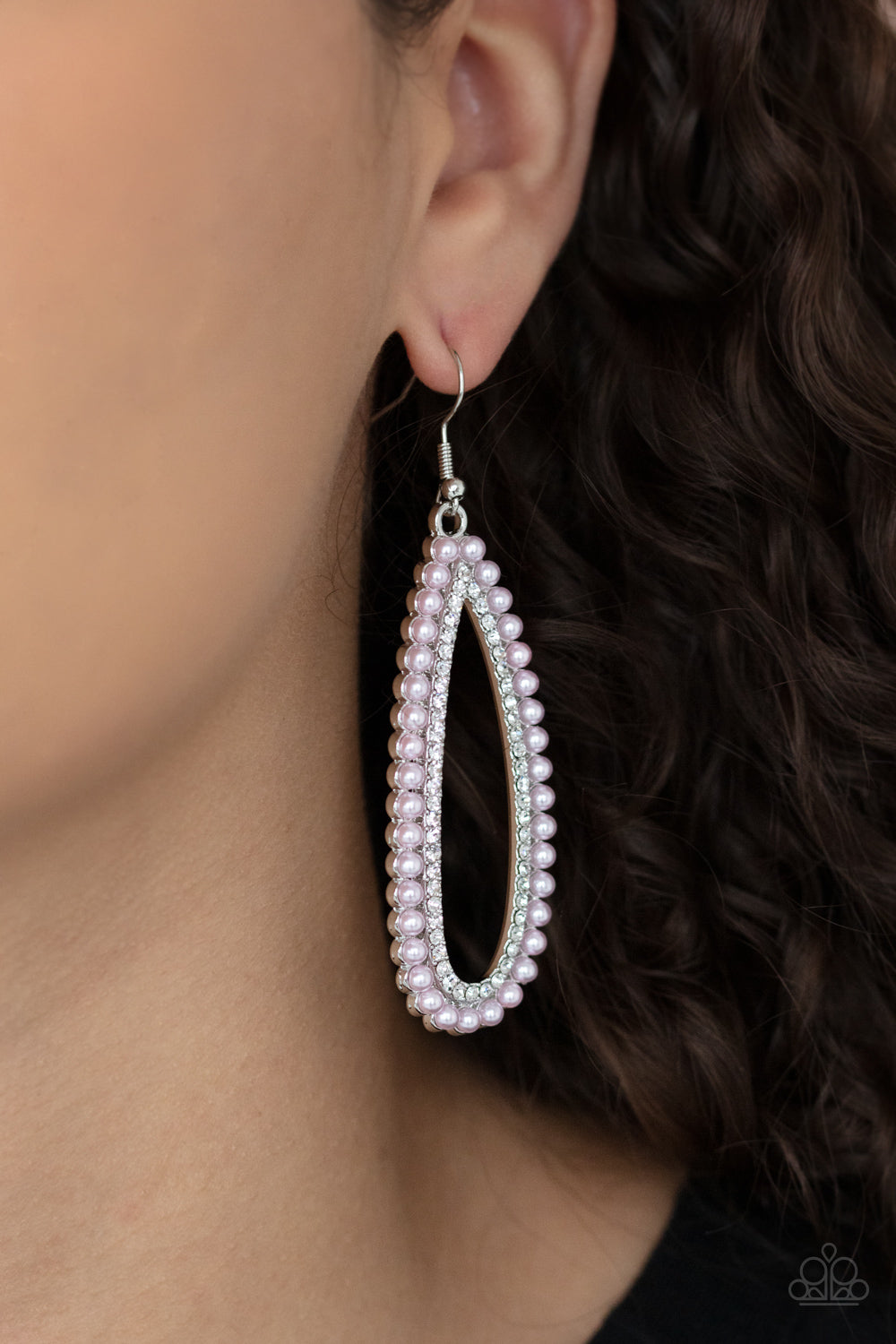 Glamorously Glowing - Pink Earrings - Paparazzi Accessories